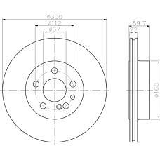 TEXTAR 92056800 (1404230412 / A1404230412 / 140423041210) диск тормозной