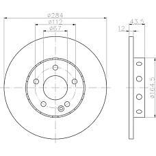 TEXTAR 92059303 (2024210212 / A2024210212 / A202421021264) диск тормозной