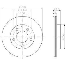 TEXTAR 92062000 (GA5Y3325X / GA2Y3325X / GA5Y3325XD) диск тормозной передний\ Mazda (Мазда) 626 / mx-6 / xedos 61.6-2.5 91>