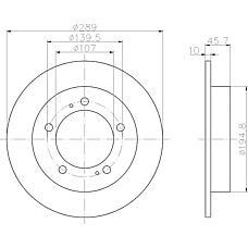 TEXTAR 92066003 (5521160A00 / 96058796 / 5521160A00000) диск торм. Suzuki (Сузуки) jimny (fj) 98- перед. вент. 1 шт (min 2 шт) rpo