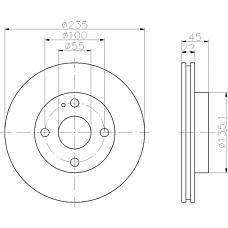 TEXTAR 92071500 (BR703325X / BR703325XA / BR703325XF) диск торм. mazda
