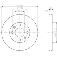 TEXTAR 92078603 (4246L9 / E169055) диск торм. Peugeot (Пежо) 406 перед. вент. 1 шт (min 2 шт) pro