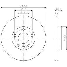 TEXTAR 92083500 (8E0615301B / 8E0615301D / 8E0615301P) Диск тормозной передний вент.