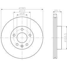TEXTAR 92083803 (701615301F / 7D0615301C / 7D0615301A) диск тормозной передний\ VW t4 2.0-2.4d 90>