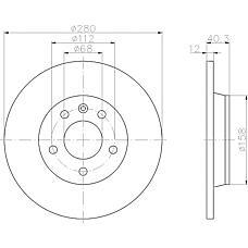 TEXTAR 92083903 (701615601A / 7D0615601 / 701615601) диск тормозной