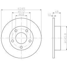 TEXTAR 92088503 (8D0615601A / 8E0615601A) диск тормозной