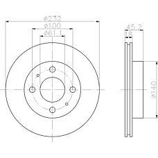 TEXTAR 92090900 (402060M602 / 402060M601) диск торм. Nissan (Ниссан) Almera (Альмера) n15 перед. вент. 1 шт (min 2 шт)