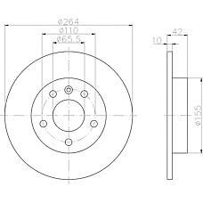 TEXTAR 92092103 (569109 / 9117772 / 90575113) диск тормозной задний\ Opel (Опель) Astra (Астра) 1.4-2.0tdi / 2.2tdi 98>