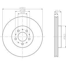 TEXTAR 92092300 (272276 / 31262095 / 24803) диск тормозной