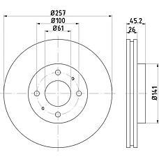 TEXTAR 92096700 (4020654C01) диск торм. Honda (Хонда) Civic (Цивик) / Accord (Аккорд) перед. вент. 1 шт (min 2 шт)