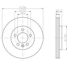 TEXTAR 92098600 (8N0615601B / 8L0615601) диск торм. Audi (Ауди) / VW tt / a3 / Golf (Гольф) / Bora (Бора) / Octavia (Октавия) quattro задний 1 шт (min 2 шт)