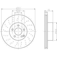 TEXTAR 92099303 (2204210912 / A2204210912 / A220421091264) диск тормозной передний перфорированный \mb w220 2.8 / 3.2 / 3.8 98-05