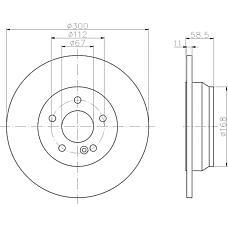 TEXTAR 92099403 (2204230112 / A2204230112 / 220423011264) диск тормозной задний\ mb w220 2.8 / 3.7 / 3.2cdi 98-05