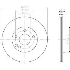 TEXTAR 92099600 (1684210612 / A1684210612 / 168421061264) диск торм. mb a w168 02-04 перед.вент. 1 шт (min 2 шт)