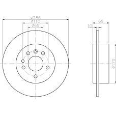 TEXTAR 92100200 (5057476 / 5391537 / 4907523) диск тормозной