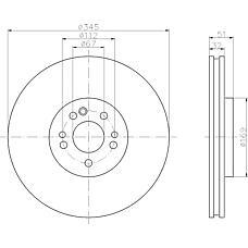 TEXTAR 92103200 (1634210312 / 1634210512 / A1634210312) диск торм. mb ml w163 98-05 перед. вент. 1 шт (min 2 шт)
