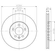 TEXTAR 92103400 (GBD90844 / 10002710) диск тормозной