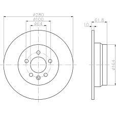 TEXTAR 92103500 (GBD90847 / SDB101100) диск тормозной