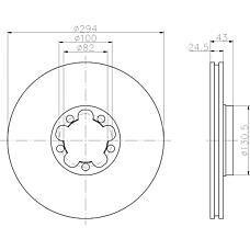 TEXTAR 92103800 (4041428 / 1387781 / 1738815) заменено на xtx-92103803 диск торм. Ford (Форд) transit