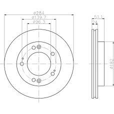 TEXTAR 92104400 (0K01A3325XB / OK01133251D / OK01A3325XB) диск торм. Kia (Киа) Sportage (Спортедж) перед. вент. 1 шт (min 2 шт)