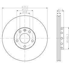 TEXTAR 92106100 (4B0615301A / 8D0615301J / 8E0615301R) Диск тормозной передний вент. 312X25 AUDI A4 A6 01-&gt VW passat