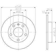 TEXTAR 92106203 (8E0615601B / 8E0615601P) диск тормозной задний\ Audi (Ауди) a4 1.6-1.9tdi 01>