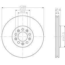 TEXTAR 92106603 (1J0615301C / 1J0615301S / 1J0615301) диск тормозной передний\ Audi (Ауди) a3, VW Bora (Бора) / Golf (Гольф) 1.8t / 2.3 / 1.9tdi 96>