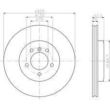 TEXTAR 92106900 (34101166071 / 34116769305 / 34116855156) диск тормозной