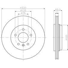 TEXTAR 92107003 (34201166073 / 34216855157 / 34216864052) Диск торм. BMW E46 325/330 задний . 1 шт (min 2 шт)PRO