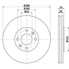 TEXTAR 92107800 (4246W3 / 4246T8 / 4246R6) диск тормозной