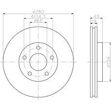TEXTAR 92109403 (402063Y502 / 402064U103 / 402064U107) диск тормозной передний\ Nissan (Ниссан) Maxima (Максима) / Primera (Примера) 1.6-2.2cdi 00>