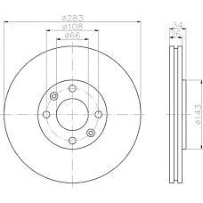 TEXTAR 92111603 (4246W8 / 4246W2 / 424917) диск тормозной передний\Citroen (Ситроен) c5, Peugeot (Пежо) 307 1.4-2.0hdi 00>