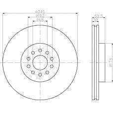 TEXTAR 92112500 (4D0615301B / 4D0615301E) диск торм. Audi (Ауди) a8 2,8-4,2 / quattro 94-02 перед. вент. 1 шт (min 2 шт)