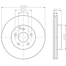 TEXTAR 92115100 (2114210712 / A2114210712) диск торм. mb w211 перед. вент. 1 шт (min 2 шт)