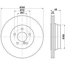 TEXTAR 92115500 (2114230912 / 0004230912 / A2114230912) диск торм. mb w211 / w212 / x204 задн. вент. 1 шт (min 2 шт)
