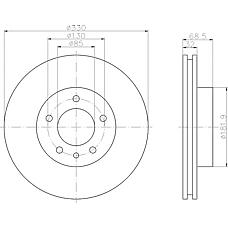 TEXTAR 92121500 (95535140140 / 7L6615301N / 7L6615301D) диск тормозной передний левый\ Porsche (Порше) Cayenne (Кайен) 3.2-5.0tdi 02>