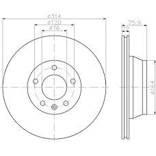 TEXTAR 92121900 (7L6615601E) диск торм. VW Touareg (Туарег) 02- / t5 03- задн. 1 шт