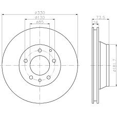 TEXTAR 92122000 (95535240130 / 7L8615601C / 95535240131) диск тормозной