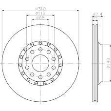 TEXTAR 92122400 (4E0615601A) диск тормозной (цена за 1 шт., к-кт 2 шт.)