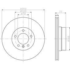 TEXTAR 92122503 (34116764021 / 34116756745 / 34116864059) диск тормозной передний\BMW (БМВ) e60 / e61 2.0 / 2.1 / 2.5 / d 03>