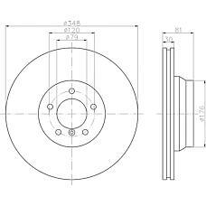 TEXTAR 92122900 (34116750267 / 34116864057) диск торм. BMW (БМВ) 7 / 6 e65 / 66 / 63 перед. вент. 1 шт (min 2 шт)