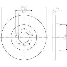 TEXTAR 92123103 (34211166127 / 3421116612) диск тормозной задний\ BMW (БМВ) e65 / e66 3.0 / 3.6 01>
