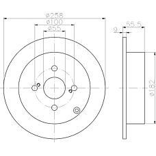 TEXTAR 92126103 (4243102070 / 92126100) диск тормозной задний\ Toyota (Тойота) Corolla (Корола) 1.4 / 1.8i 01-06