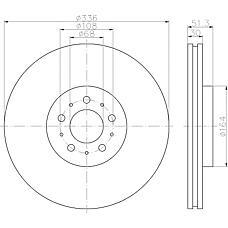 TEXTAR 92126700 (30657301 / 306573013 / 31262489) Диск тормозной передний VOLVO XC-90 17 02-&gt