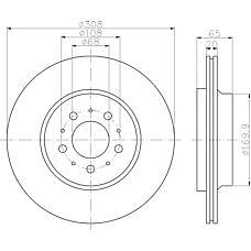 TEXTAR 92126803 (8624926 / 86249260 / 86249265) диск тормозной задний\ Volvo (Вольво) xc90 2.5t / d5 / t602>