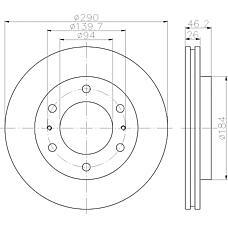 TEXTAR 92128800 (MR407116 / MR407289) диск тормозной