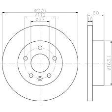 TEXTAR 92129200 (6384210412 / A6384210412) диск торм. mb Vito (Вито) (638) 96-03 перед. вент. 1 шт (min 2 шт)