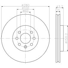 TEXTAR 92129300 (569007 / 93181113 / 93197712) диск торм. Opel (Опель) Astra (Астра) h / Meriva (Мерива) перед. вент. 1 шт (min 2 шт)