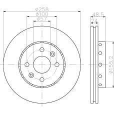 TEXTAR 92131100 (0K2N133251 / OK2N133251 / 98200131101) диск торм.