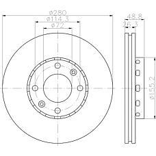 TEXTAR 92131700 (0K2FA33251 / OK2FA33251) диск тормозной